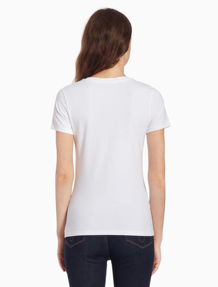 CALVIN KLEIN 메시 로고 프린트 티셔츠