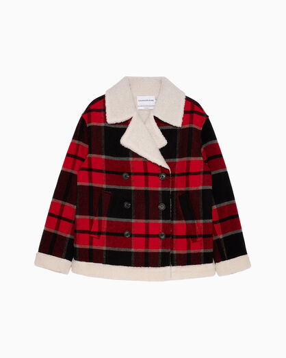 CALVIN KLEIN BUFFALO PLAID 大衣