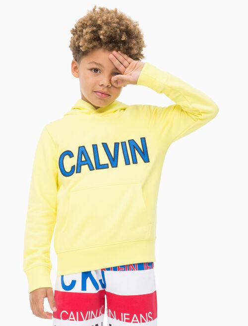 CALVIN KLEIN BOYS CALVIN LOGO TERRY HOODIE