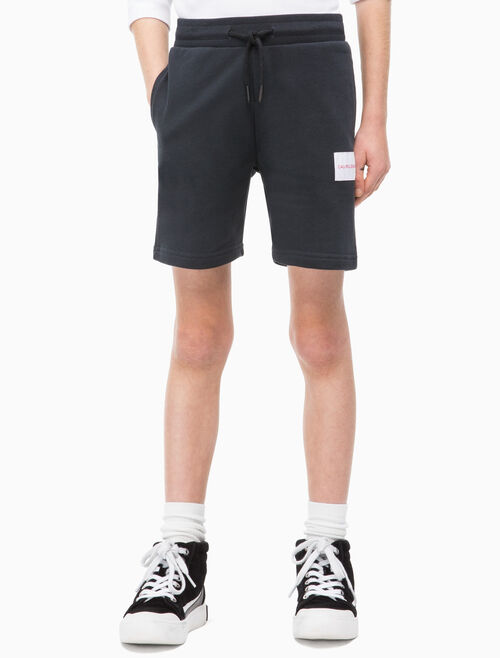 CALVIN KLEIN BOYS LOGO COTTON TERRY SWEAT SHORTS