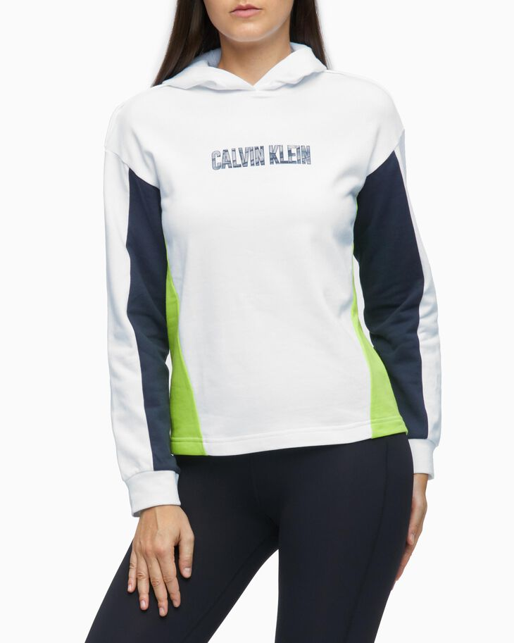 CALVIN KLEIN DIGITAL MOTION COLOR BLOCK RELAXED FIT HOODIE