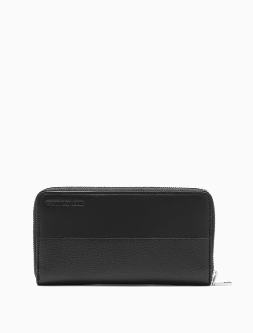 CALVIN KLEIN DUAL TEXTURED LONG ZIP AROUND WALLET
