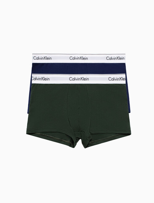 CALVIN KLEIN MODERN COTTON STRETCH 貼身短版四角褲(2 件組)