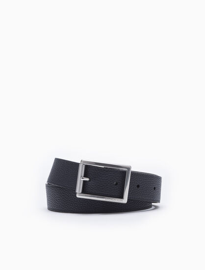 CALVIN KLEIN EXPOSED ROLLER BUCKLE BELT
