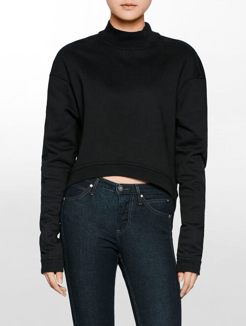 CALVIN KLEIN WOMEN - HYPER CURVE LONG SLEEVES TURTLENECK PULLOVER
