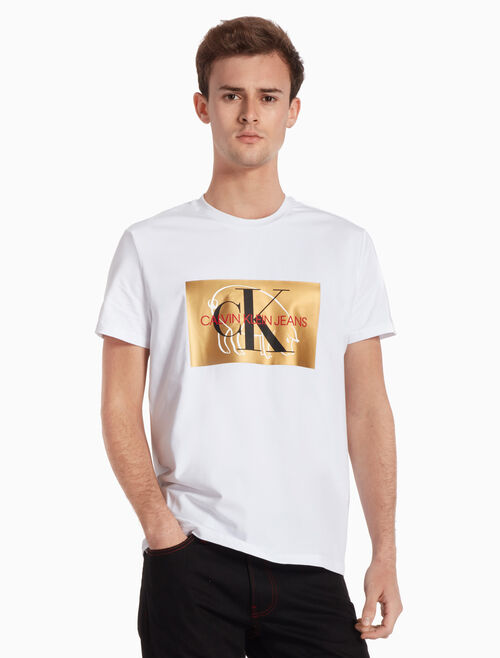 CALVIN KLEIN YEAR OF PIG LOGO TEE