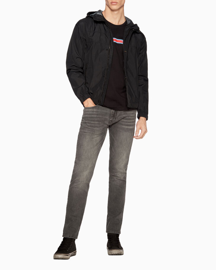 CALVIN KLEIN TECHNICAL NYLON ZIP UP JACKET