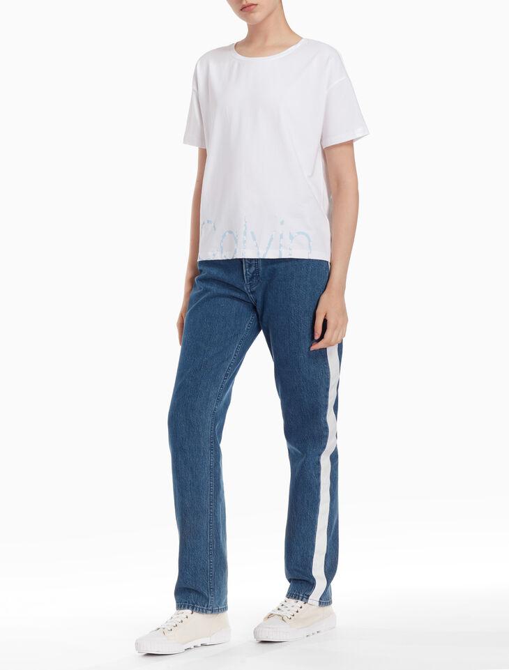 CALVIN KLEIN FLOWER LOGO 티셔츠
