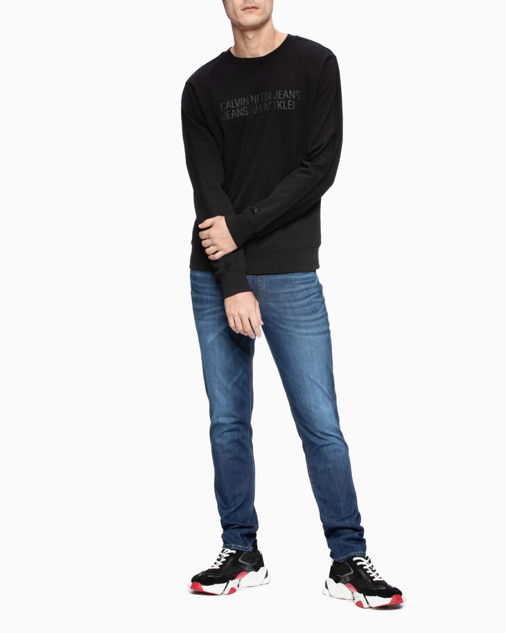 CALVIN KLEIN INSTITUTIONAL MIRRORED LOGO SWEATSHIRT