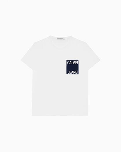 CALVIN KLEIN CONTRAST 체스트 포켓 티셔츠
