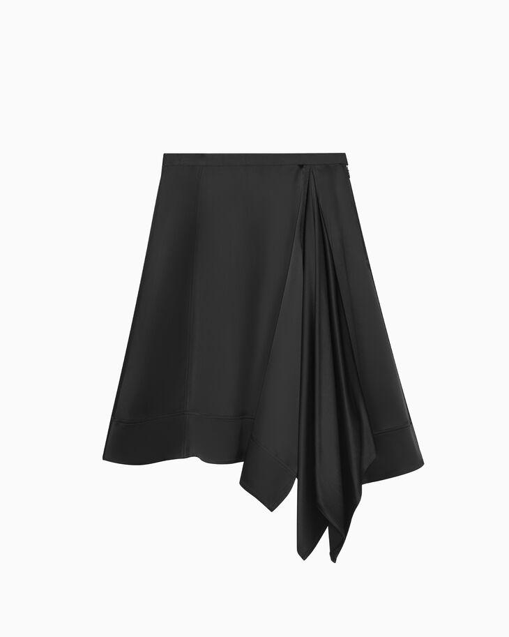 CALVIN KLEIN アシンメトリー サテンクレープ スカート