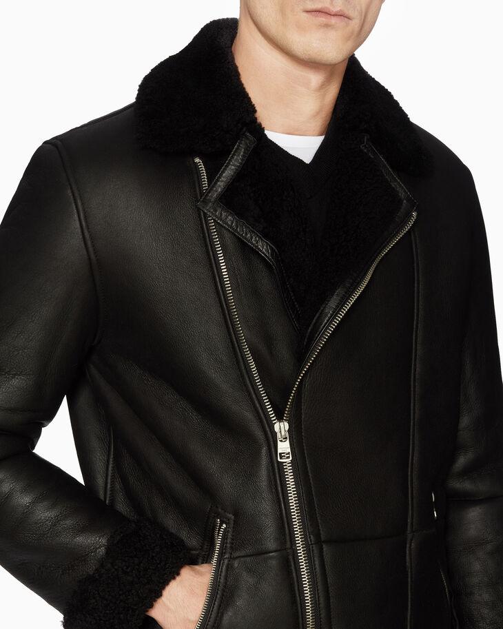 CALVIN KLEIN SHEARLING 바이커 재킷