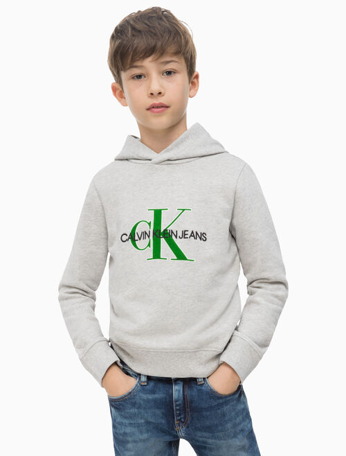 CALVIN KLEIN BOYS MONOGRAM TERRY 連帽上衣