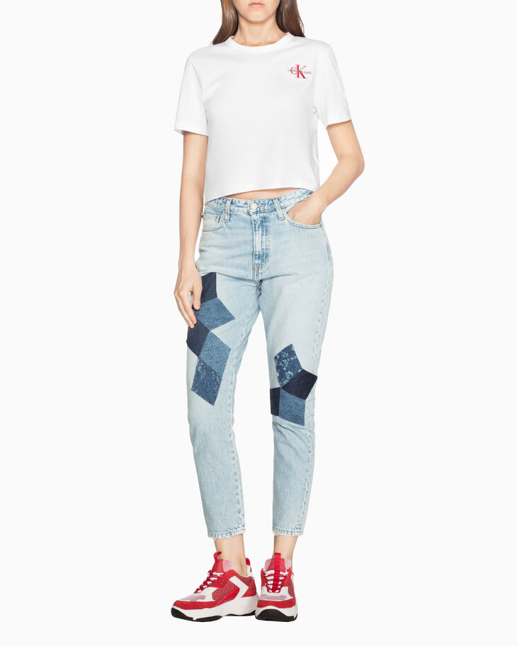 CALVIN KLEIN EMBROIDERED MONOGRAM T シャツ