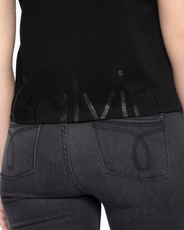 CALVIN KLEIN PREMIUM グリッターロゴ T シャツ