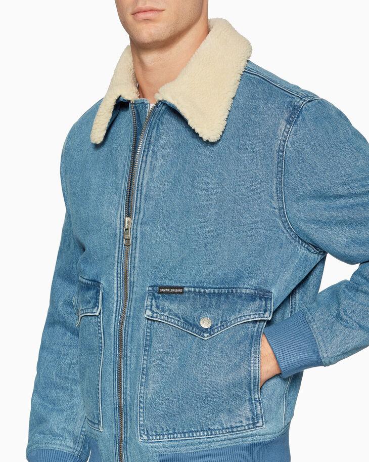 CALVIN KLEIN WESTERN 패딩 보머 재킷