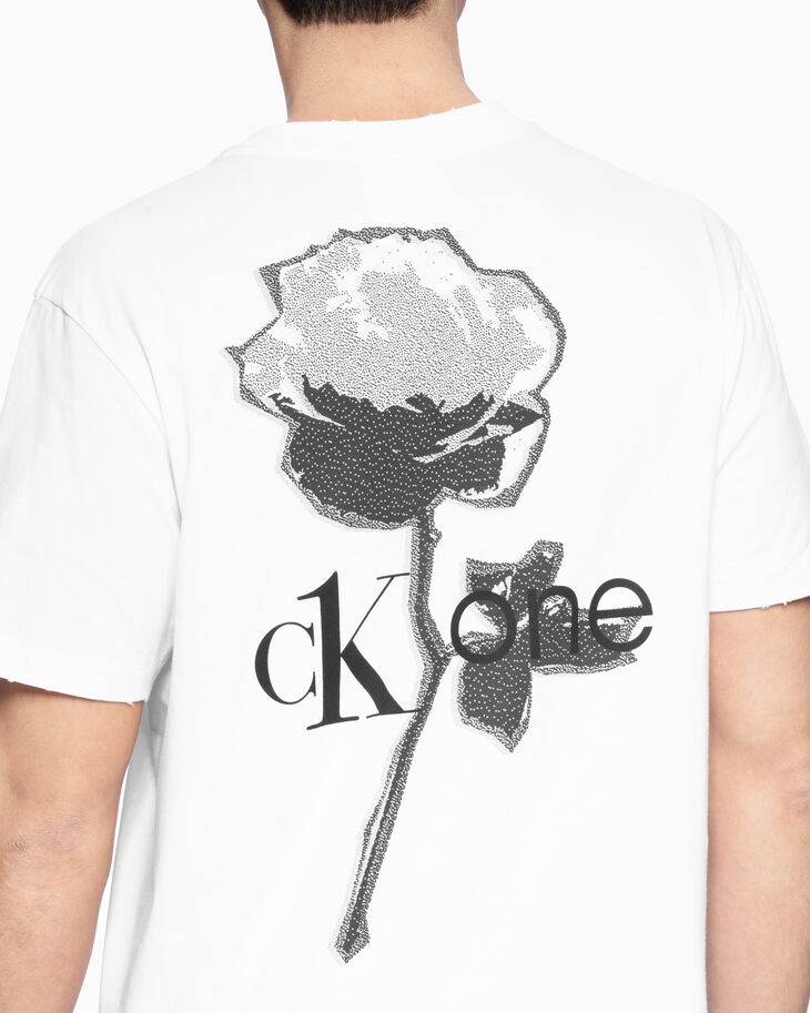 CALVIN KLEIN CK ONE ROSE LOGO 티셔츠