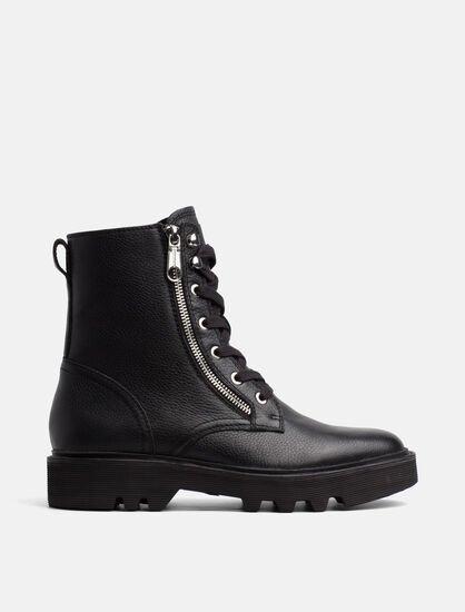 CALVIN KLEIN DIAHNE LACE-UP BOOTS