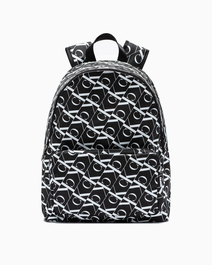 CALVIN KLEIN MONOGRAM ALL OVER PRINT CAMPUS BACKPACK