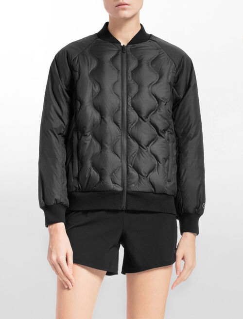CALVIN KLEIN QUILTED DOWN BOMBER JACKET