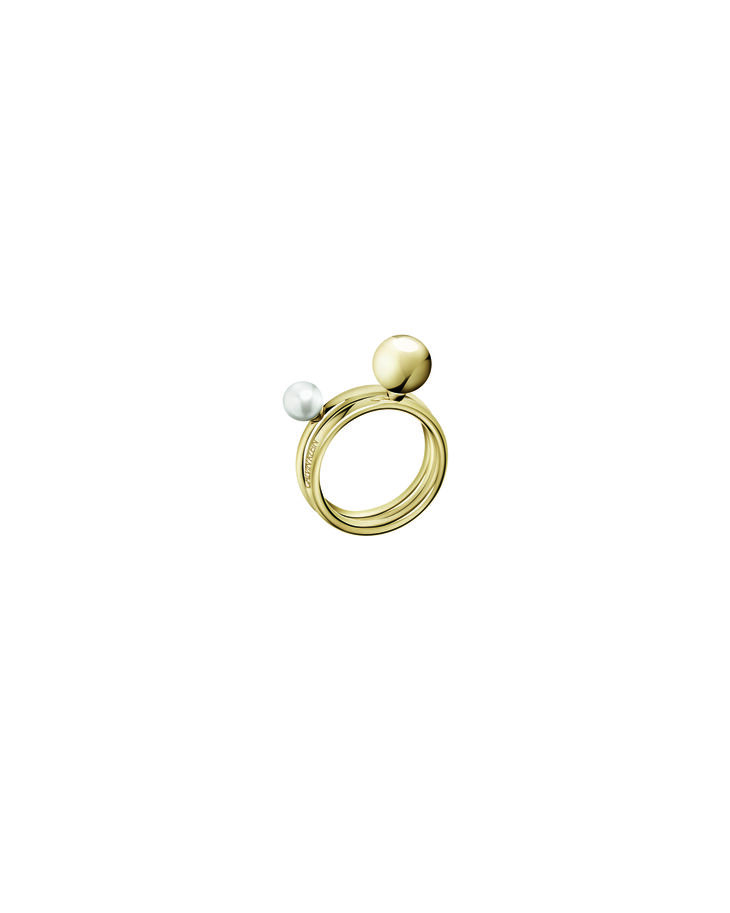 CALVIN KLEIN BUBBLY GOLD DOUBLE RING