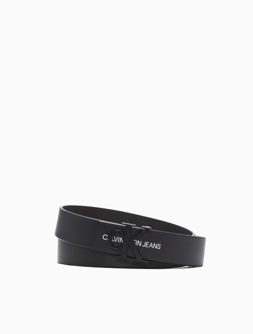 CALVIN KLEIN BASIC LOGO BUCKLE BELT