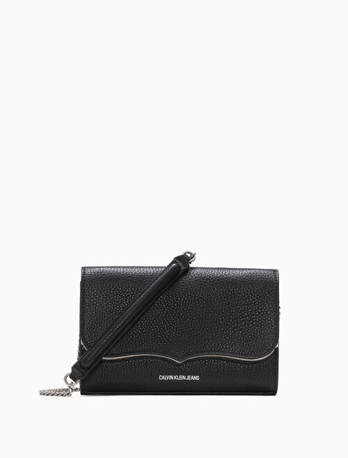 CALVIN KLEIN WESTERN ACCORDION CROSSBODY WALLET