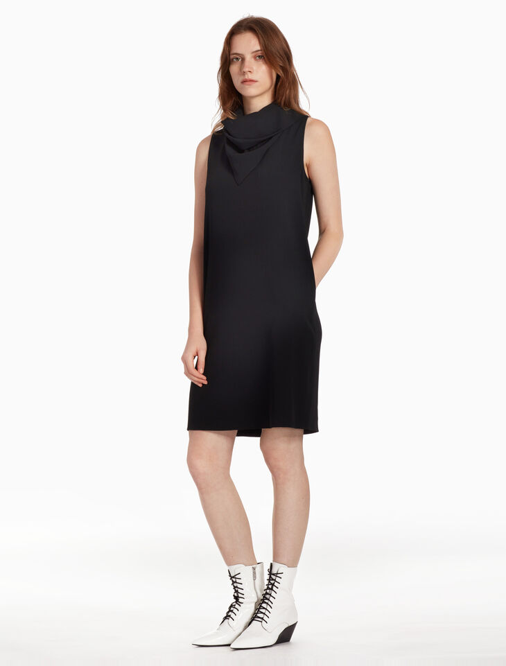 CALVIN KLEIN SATIN BACK CREPE DRESS