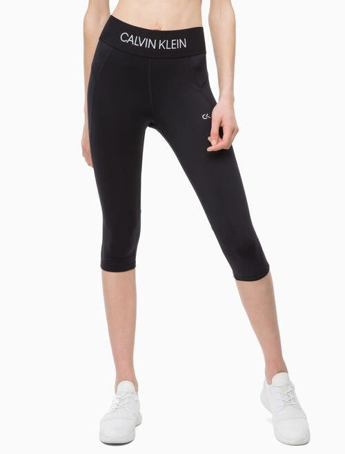 CALVIN KLEIN LOGO WAISTBAND CROPPED LEGGINGS