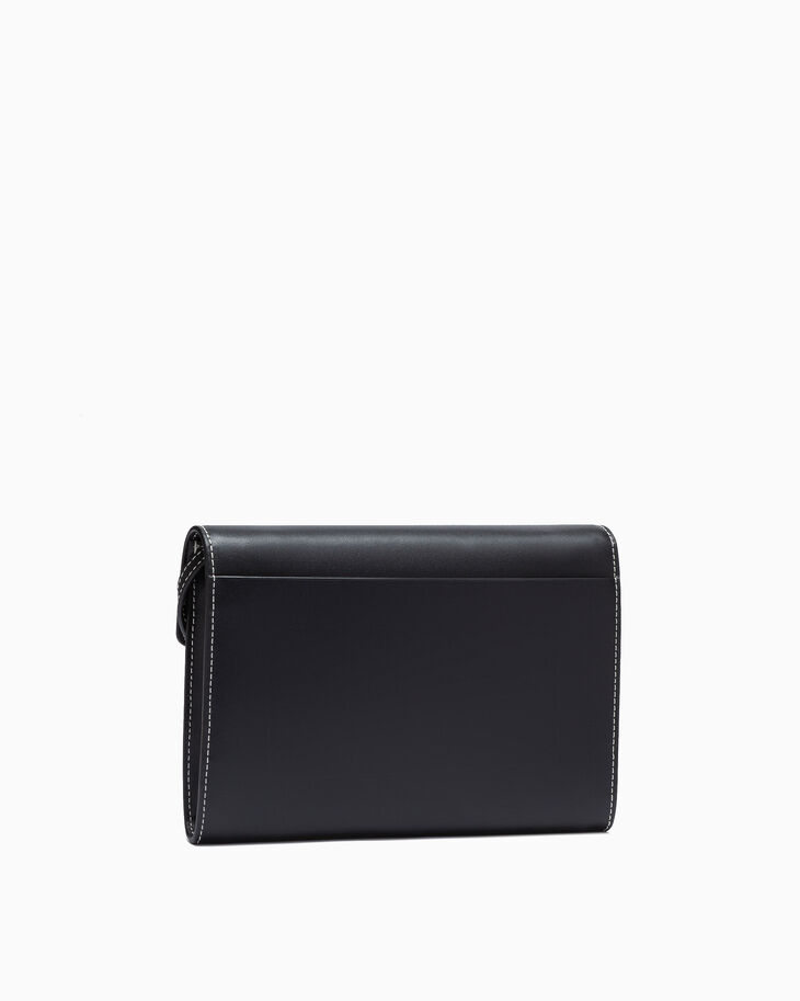 CALVIN KLEIN LEATHER LOCK CROSSBODY BAG