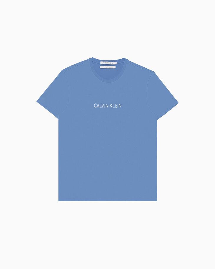 CALVIN KLEIN INSTITUTIONAL GLOSSY LOGO 티셔츠