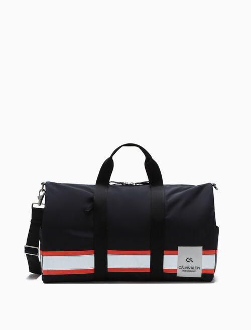 CALVIN KLEIN LARGE STRIPE BAND DUFFLE