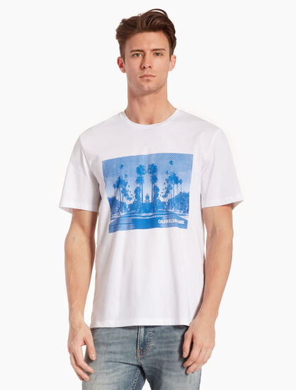 CALVIN KLEIN LANDSCAPE PRINT 티셔츠