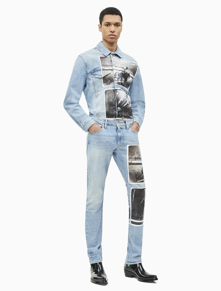CALVIN KLEIN ANDY WARHOL MEN STRAIGHT JEANS