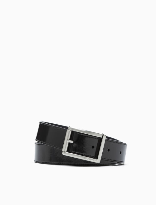 CALVIN KLEIN POLISHED ROLLER BUCKLE 腰帶