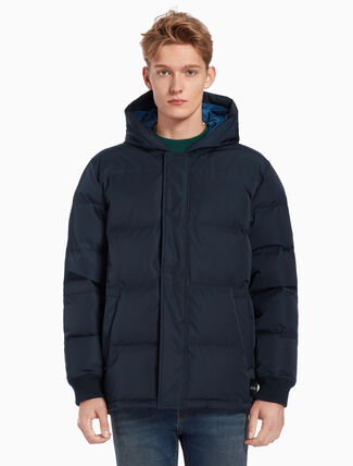 CALVIN KLEIN HOODED DOWN JACKET