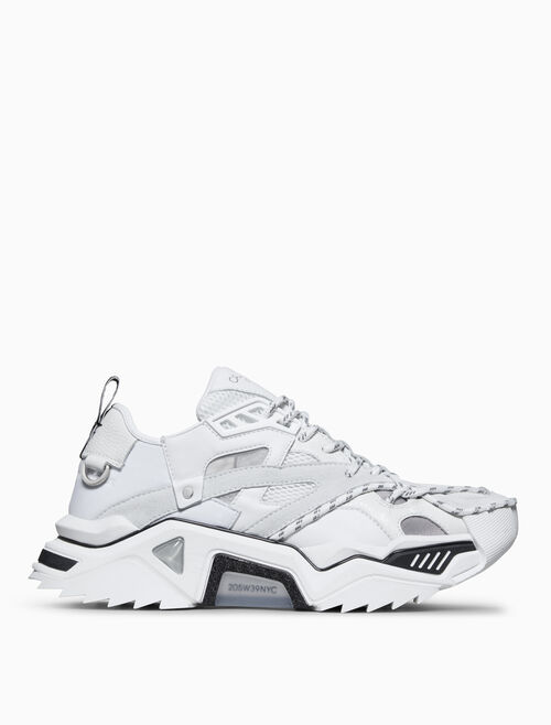 CALVIN KLEIN LACE-UP HEAVY TREAD ATHLETIC SNEAKER IN CALF LEATHER