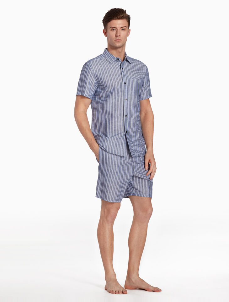 CALVIN KLEIN COTTON LINEN SLEEP SHORTS