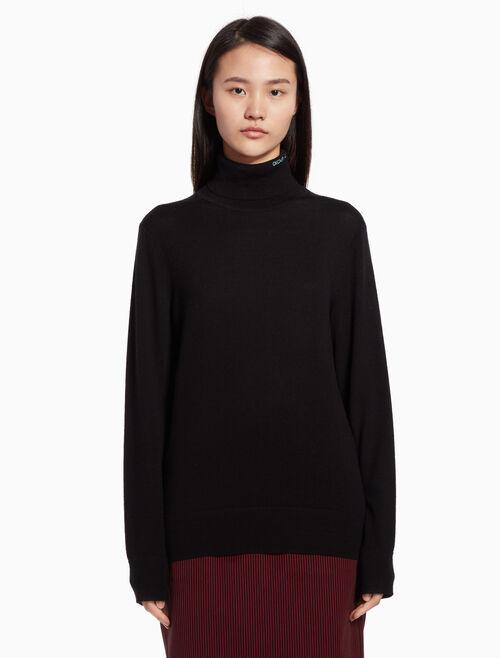 CALVIN KLEIN Knit turtleneck sweater