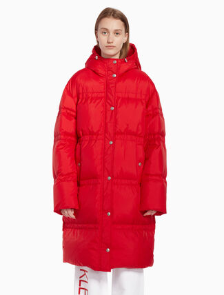 CALVIN KLEIN Long puffer jacket