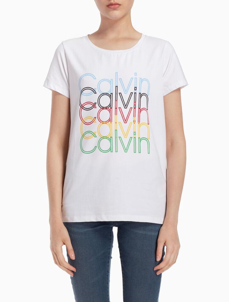 CALVIN KLEIN MULTICOLORED LOGO 티셔츠