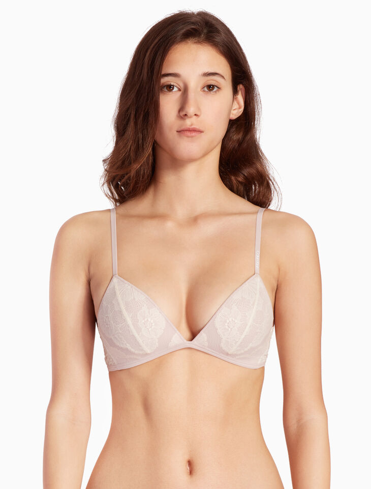 CALVIN KLEIN PRESSED LACE LIGHTLY LINE 브라렛