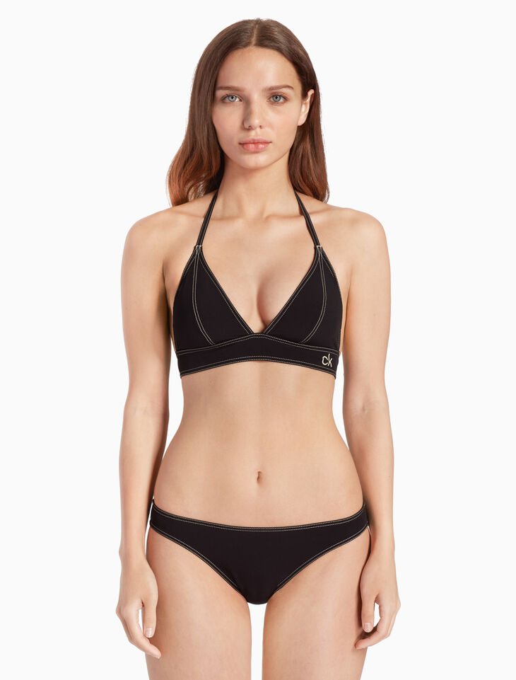 CALVIN KLEIN CK RETRO TRIANGLE BIKINI TOP
