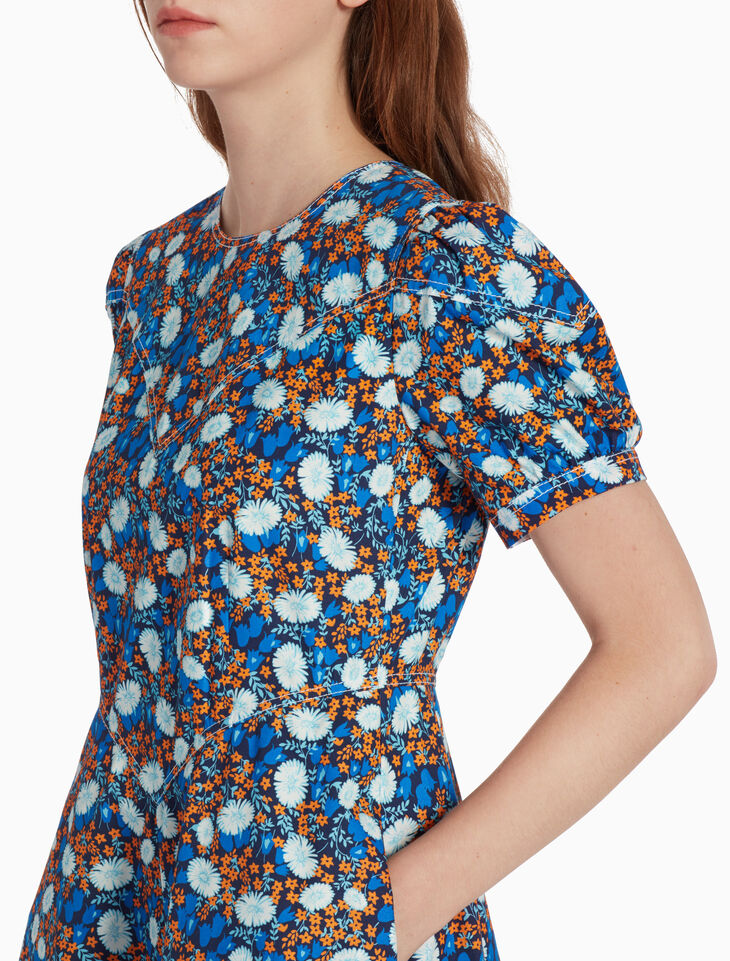 CALVIN KLEIN 플로럴 프린트 드레스