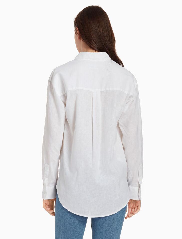 CALVIN KLEIN RELAXED LINEN 셔츠