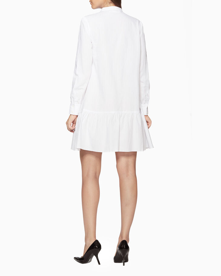 CALVIN KLEIN COTTON BUTTON-DOWN DRESS