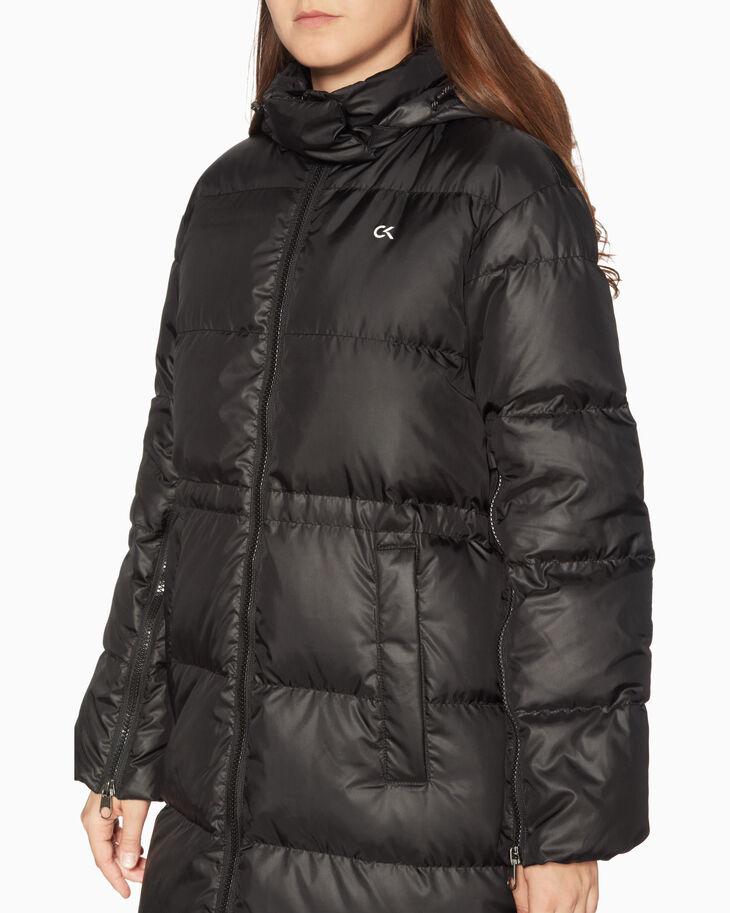 CALVIN KLEIN 롱 후드 다운 재킷
