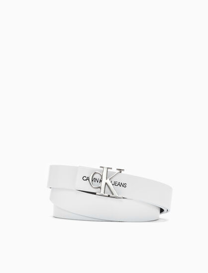 CALVIN KLEIN SKINNY MONOGRAM BELT 24MM
