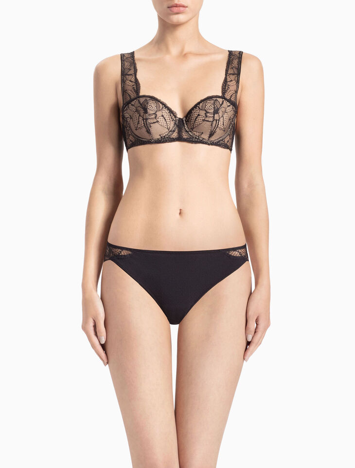 CALVIN KLEIN CK BLACK ROSE LACE THONG