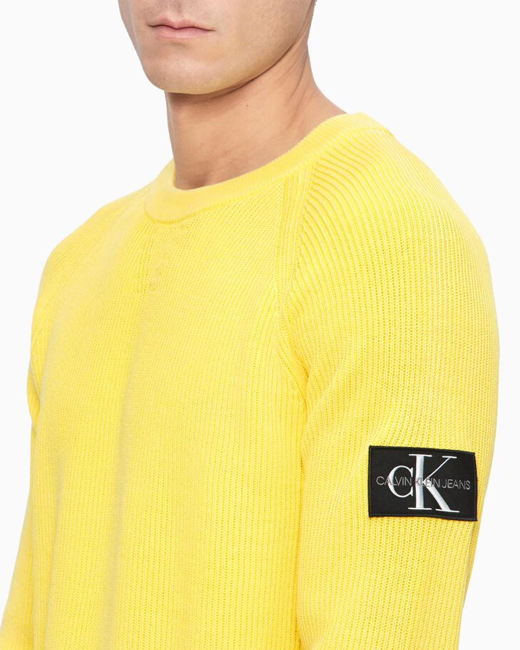 CALVIN KLEIN OVERDYED RIB KNIT SWEATER